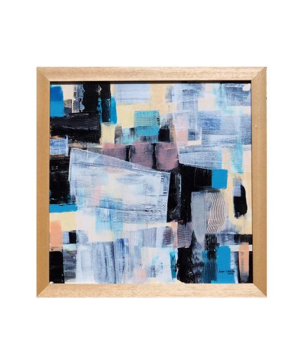 Lavander Fields 2021 16x16inch 40x40cm Acrylic On Canvas Framed Medium Canvas